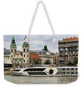 Danube Riverboat In Budapest Weekender Tote Bag