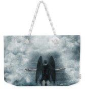 Dark Angel Kneeling On Stairway In The Clouds Weekender Tote Bag
