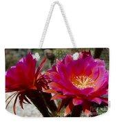 Dark Pink Cactus Flowers Weekender Tote Bag
