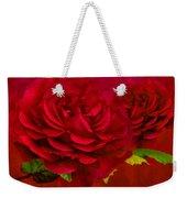 Dark Pink Rose Weekender Tote Bag