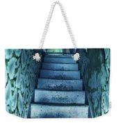 Dark Staircase With Man At Top Weekender Tote Bag