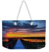 Dawn Skies At The Fishing Pier Weekender Tote Bag