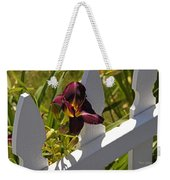 Day Lily And White Fence II Weekender Tote Bag