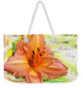 Daylily Greeting Card Mothers Day Weekender Tote Bag