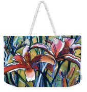 Daylily Stix Weekender Tote Bag by Kathy Braud