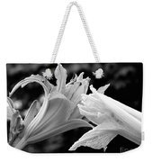 Daylily Study In Bw IIi Weekender Tote Bag