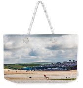 Daymer Bay Beach Landscape In Cornwall Uk Weekender Tote Bag
