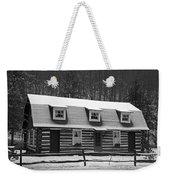 Days Of Yore Log Cabin Weekender Tote Bag