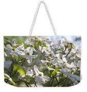 Dazzling Sunlit White Spring Dogwood Blossoms Weekender Tote Bag