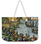De Bry: Chicora, 1590 Weekender Tote Bag