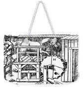 De Re Metallica, Ventilation Of Mines Weekender Tote Bag
