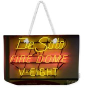 De Soto Fire Dome V Eight Neon Sign Weekender Tote Bag