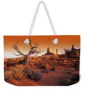 Dead Tree In Desert Monument Valley Weekender Tote Bag