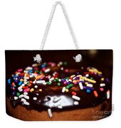 Death By Doughnut Weekender Tote Bag