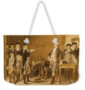 Death Warrant Of Major John Andre, 1780 Weekender Tote Bag by Photo Researchers