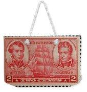 Decatur And Macdonagh Postage Stamp Weekender Tote Bag