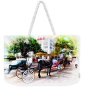 Decatur Street At Jackson Square Weekender Tote Bag by Bill Cannon