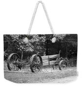 Decaying Wagon Black And White Weekender Tote Bag