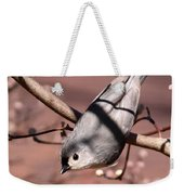 Decked Out - Tufted Titmouse Weekender Tote Bag