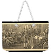 Declaration Of Independence In Sepia Weekender Tote Bag