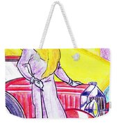 Deco Lady With Auto Weekender Tote Bag