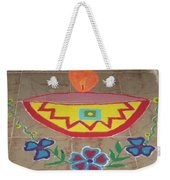 Decorative Earthen Diya Rangoli Weekender Tote Bag