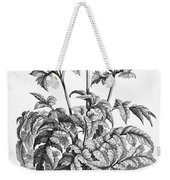 Decorative Flower Weekender Tote Bag