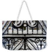 Decorative Iron Gate In Winter Weekender Tote Bag