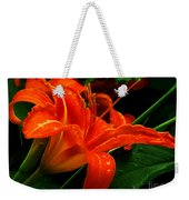 Deep Orange Day Lily Weekender Tote Bag