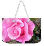 Deep Pink Watercolor Rose Blossom Weekender Tote Bag