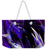 Deep Purple Abstract Weekender Tote Bag