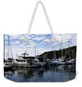 Deer Harbor Blues Weekender Tote Bag