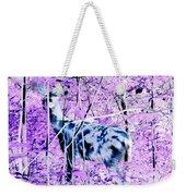 Deer In The Woods Inverted Negative Image Weekender Tote Bag