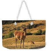 Deer On Mountain 2 Weekender Tote Bag