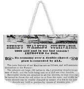 Deere Plow, 1869 Weekender Tote Bag