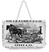 Deere Plow, C1866 Weekender Tote Bag