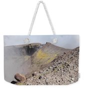Degassing North Crater With Fumarolic Weekender Tote Bag