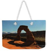 Delicate Arch Under Moonlight Weekender Tote Bag