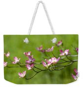 Delicate Pink Dogwood Blossoms Weekender Tote Bag