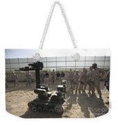 Demonstration Of A Bomb Disposal Robot Weekender Tote Bag