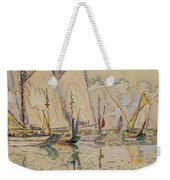 Departure Of Tuna Boats At Groix Weekender Tote Bag