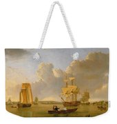 Deptford On Thames With A Distant View Of Greenwich Weekender Tote Bag by John of Hull Ward