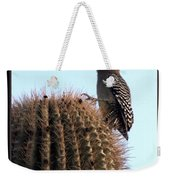 Desert Bird Atop Saguaro Weekender Tote Bag