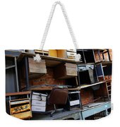 Desk Scrap Weekender Tote Bag by Carlos Caetano
