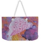 Pink Hat Beauty Weekender Tote Bag