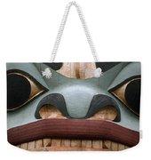 Detail Of A Totem Pole Weekender Tote Bag
