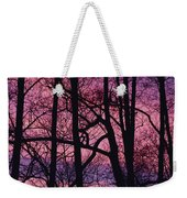 Detail Of Bare Trees Silhouetted Weekender Tote Bag