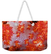 Detailed View Of Soft Coral Revealing Weekender Tote Bag