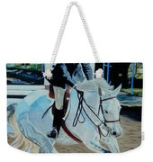 Determination - Horse And Rider - Horseshow Painting Weekender Tote Bag