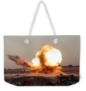 Detonation Of A Weapons Cache Weekender Tote Bag by Stocktrek Images